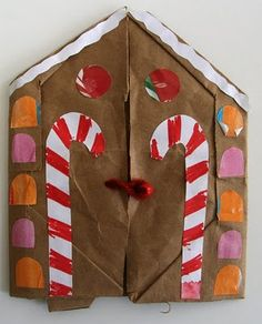 Gingerbread House Accordion Book