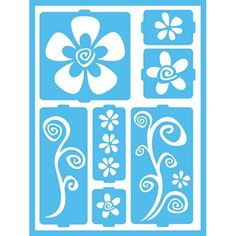 DecoArt Patio Paint Self-Adhesive Stencils, 6 by 8-Inch, Funky Flowers
