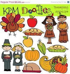 COMBO PACK Thanksgiving Digital Clip art :>