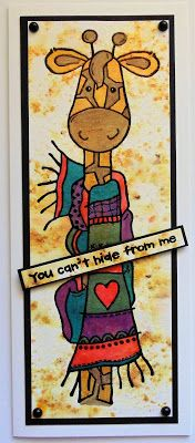 Inky Finger Zone: You can't hide from me Some Cards, My Stamp, Handmade Cards, Fingers, Stamping, Card Ideas, Card Making, June, Bear