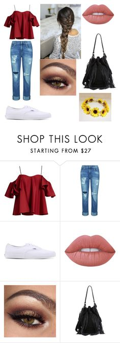 """First Day Of School"" by fshioncrazy ❤ liked on Polyvore featuring Anna October, 7 For All Mankind, Vans, Lime Crime and Loeffler Randall"