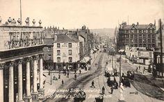 Theatre Square and Parliament Street, Nottingham, c 1910.