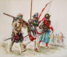 """En la poema """"Prendimiento de Antonito de Camborio en el camino de sevilla"""", los soldados que le arrestan a Antonito eran """"guardia civil"""", y los soldados Espanoles en la foto, es como se vestian en ese tiempo."""