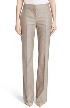 Max Mara 'Alessia' Straight Leg Wool Blend Pants