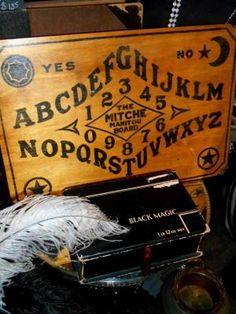 Rare Antique MITCHE MANITOU Spirit Board c. 1920's