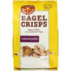 Abe's Bagel Bakery Roasted Garlic Bagel Crisps image front