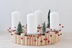 Ideas para la decoración con velas de Navidad