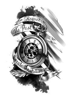 sugar skull tattoo for guys, top foot tattoo, tattoo tips, … – foot tattoos for women flowers Tatto Clock, Clock Tattoo Design, Tattoo Design Drawings, Tattoo Sleeve Designs, Tattoo Designs For Women, Tattoo Sketches, Sleeve Tattoos, Henna Designs, Clock Tattoo Sleeve