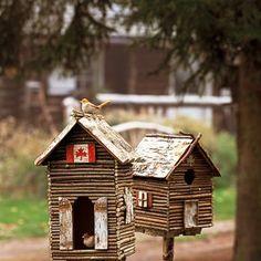 Des cabanes à oiseaux en branchages - Marie Claire Idées