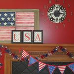 Rustic (20) Upcycled Window Frame Flag