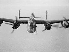 One of the most iconic planes of the Second World War, the Avro Lancaster. Britains premier four-engined heavy bomber of which over 7,000 were built. The L