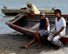 Old Harbor locals at the end of the day, Portland Bight, Jamaica.