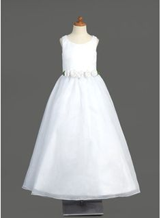 A-Line/Princess Scoop Neck Floor-Length Organza Flower Girl Dress With Flower(s)  from JJ's House, Bridal & bridal accessories.  www.jjshouse.com We ship to Australia.   Please mention that you found them thru Jevel Wedding Planning's Pinterest Account.  Keywords: #flowergirldresses #jevelweddingplanning Follow Us: www.jevelweddingplanning.com  www.facebook.com/jevelweddingplanning/