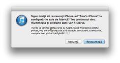 Cum sa faci o restaurare (restore) unui iPhone, iPad sau iPod - Tutorial Ipod Touch, Multimedia, Itunes, Restoration, Ios, Iphone