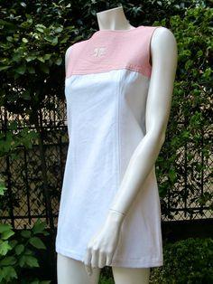 COURREGES SPACE AGE 1960 Vinyl Mini Dress by ParisVintageCouture