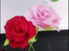 Como fazer flores de papel crepom - YouTube