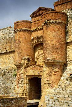 Entrance to Salses-le-Château located near Perpignan, France
