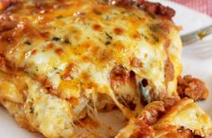 Cajun lasagna. A surprising lasagna that will soon become your new favorite!