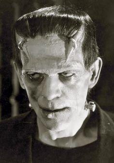 Karloff in a make up not used in FRANKENSTEIN (1931)