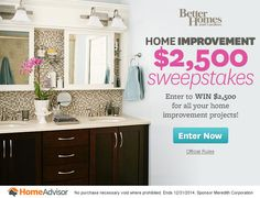$2,500 Home Improvement Sweepstakes