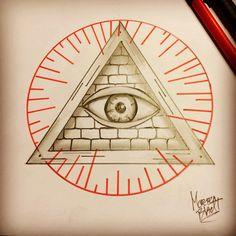 Illuminati tattoo all seeing eye by Bladtart