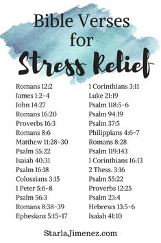 Encouraging Bible Verses: Bible verses for stress relief. Have faith in and spend time with God and experience love, guidance, peace and comfort. Bible Verses About Stress, Bible Encouragement, Quotes About Stress, Bible Verses For Women, Stress Scriptures, Stress Quotes, Stress Relief Quotes, About Bible, Bible Verses About Happiness