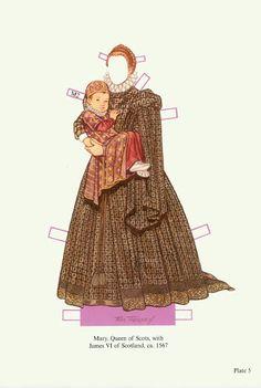 Mary Queen of Scots Paper Dolls (Tom Tierney) - Nena bonecas de papel - Picasa Web Albums