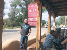 Burger Stand at Taos Ale House: Great beer and burgers, good vibes