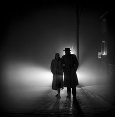by Fred Lyon    Couple in Fog. San Francisco, 1953