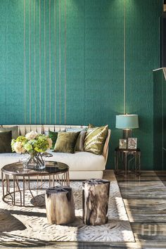 A sophisticated green space designed by PTang Studio Ltd. Home Journal, September 2014.