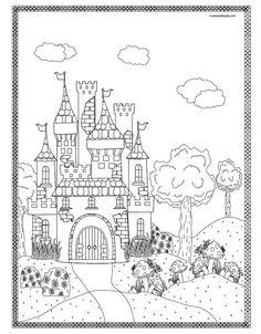 191 meilleures images du tableau coloriage chateau fort knights adult colouring in et - Dessin chateau princesse ...