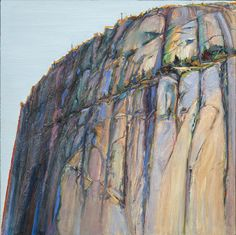 "Wayne Thiebaud, ""Yosemite Rock Ridge,"" for his show Memory Mountains. Abstract Landscape, Landscape Paintings, Wayne Thiebaud Paintings, Pop Art Movement, Artist Sketchbook, Mountain Art, Mountain Paintings, Paintings I Love, Cool Landscapes"