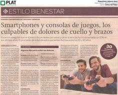 Clínica San Felipe: Dispositivos y dolores corporales en el diario Gestión de Perú (24/11/16)