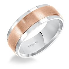 Artcarved Bridal Comfort Fit Wedding Band Rose Gold Satin Finish Center and Polished Step Edge Wedding Bands For Him, White Gold Wedding Bands, Wedding Ring Bands, Wedding Things, Rose Gold Jewelry, Best Jewelry Stores, Rose Gold Engagement Ring, Bridal Rings, Rings For Men