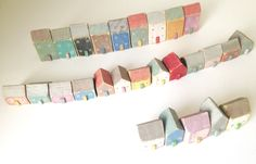 Little wooden houses various colours and sizes available £5.00 - £8.00 each