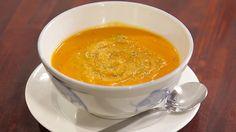Thai Sweet Potato Soup with Coriander Pesto ~ Everyday Gourmet with Justine Schofield