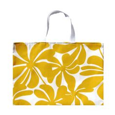 Yellow Tote Bag Beach Bag Yellow Floral Chevron by AnyarwotStyle, $16.00