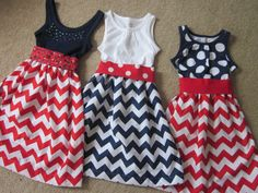 Fourth of July Chevron Dress Choose your color and by mypurseonals, $48.00