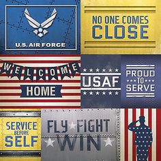 Paper House U.S. AIR FORCE TAGS 12x12 Scrapbooking (2PCS) Paper MILITARY