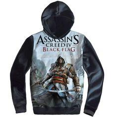 Free Shipping Anime Manga Assassin's Creed Thick Hoodie Sweatshirt Hoodies Men 003