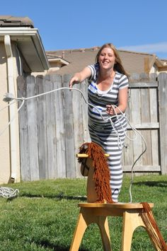 Western/Cowboy Theme Baby Shower-- Game- lasso the pony