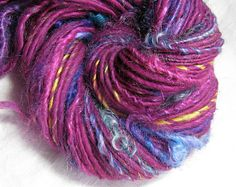 Handspun Art Yarn Textured Thick and Thin Single 'Bloom'