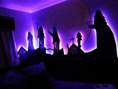 Nightmare Before Christmas room...man, oh, man i would just be thrilled to do this in my house!