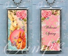 EASTER and SPRING soldered pendant by TickleMePinkBoutique on Etsy, $19.00