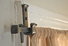 Curtain rod, forged steel. something to thing about making for my home someday.