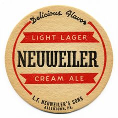 Neuweiler Beer Coaster by Bart