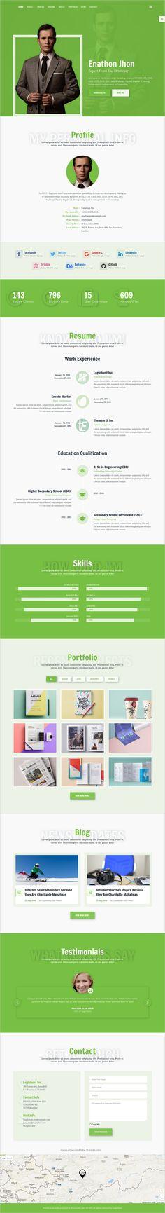 Smart  Personal Portfolio  Cv  Resume Template  Cv Resume