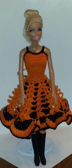 Crocheted Barbie Dress, Fashion Doll Crocheted Clothing, Handmade Barbie…
