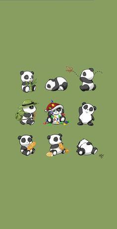 Wallpaper Tumblr Lockscreen, Wallpaper Iphone Disney, Wallpaper Backgrounds, Cute Panda Wallpaper, New Wallpaper, Panda Wallpapers, Cute Cartoon Wallpapers, Panda Kawaii, Cute Panda Drawing