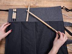 Kostenlose Nähanleitung: Drumsticktasche für Trommelstöcke nähen / free sewing tutorial: bag for drumsticks via DaWanda.com